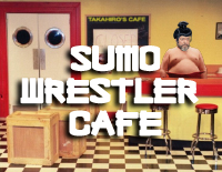 Legendary director Orson Welles as sumo cafe proprietor Rikishi
